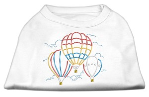Hot Air Balloon Rhinestone Shirts White L (14)
